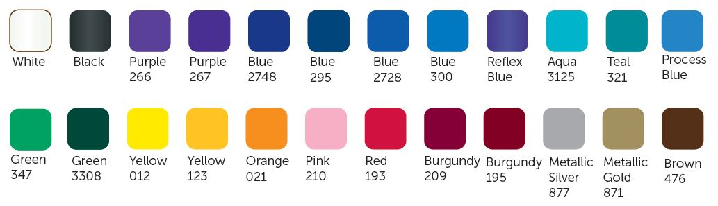 Standard Imprint Colors - CPS Keystone